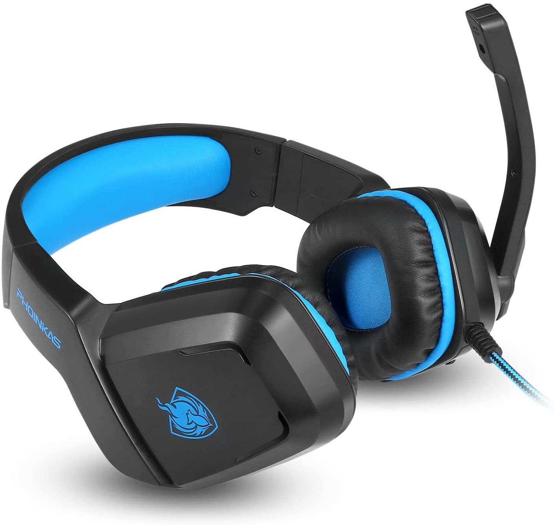سماعة العاب الكمبيوتر لاجهزة الاذن مع 3.5 ملم تحكم اكس بوكس وان , H-1