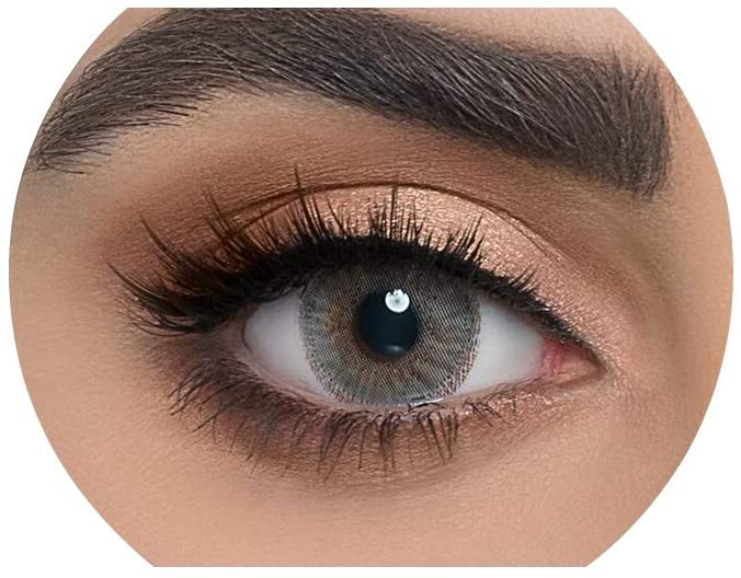 Dahab Unisex Cosmetic Contact Lenses, 9 Months Disposable- Platinum Collection, Dahab Perle (Pearly Grey Color)