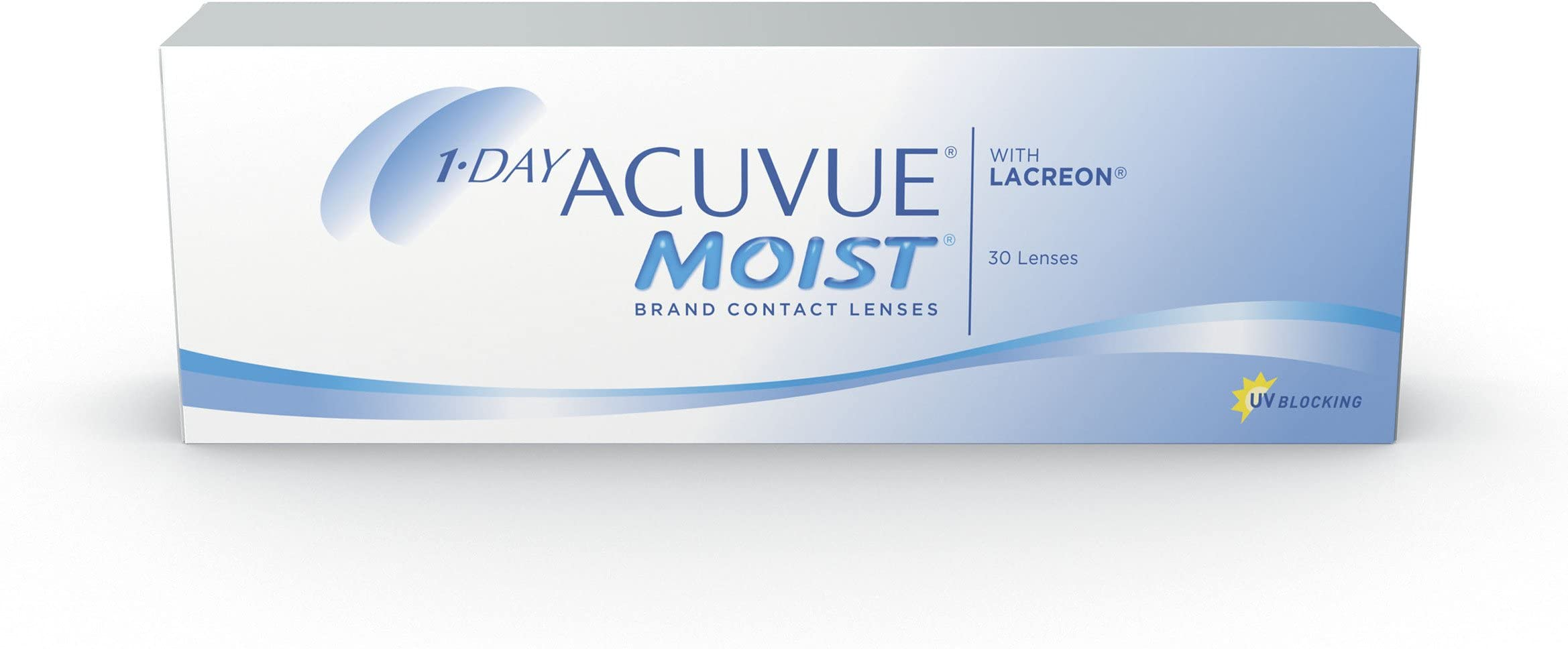 1-Day Acuvue Moist Contact Lens - 30 Pack, Clear, -7