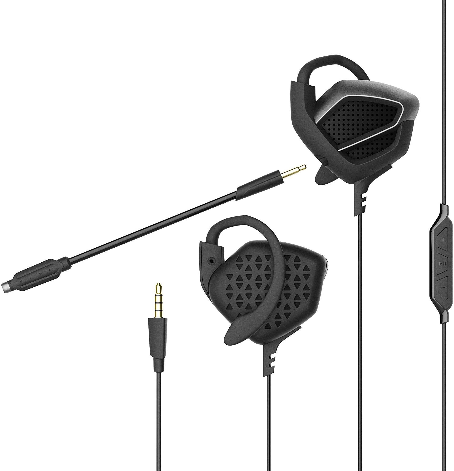 سماعة العاب سلكية فوق الاذن - مع ميكروفون قابل للتعديل، السماعة فوق الاذن متوافقة مع مجموعة متنوعة من الاجهزة الرقمية