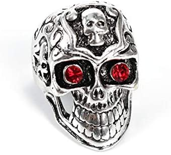 Personality Alloy Ring Rock style Punk Jewelry Retro 3D Skull Ring For Men US 10