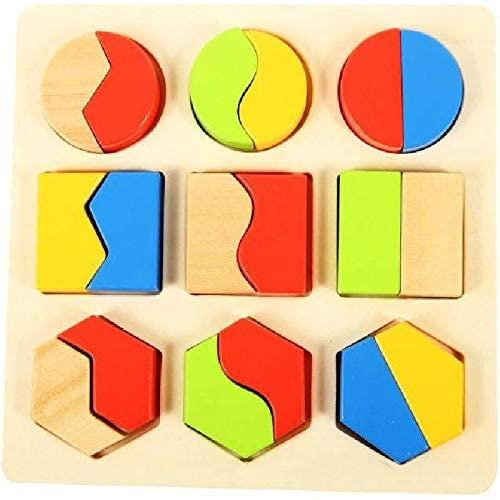روكو، لوح توزيع الاشكال طقم تعليمي لتطوير مهارات تنمية الخيال والتنسيق بين العين واليد مصنوع من خشب ، عمر سنتين فأكثر