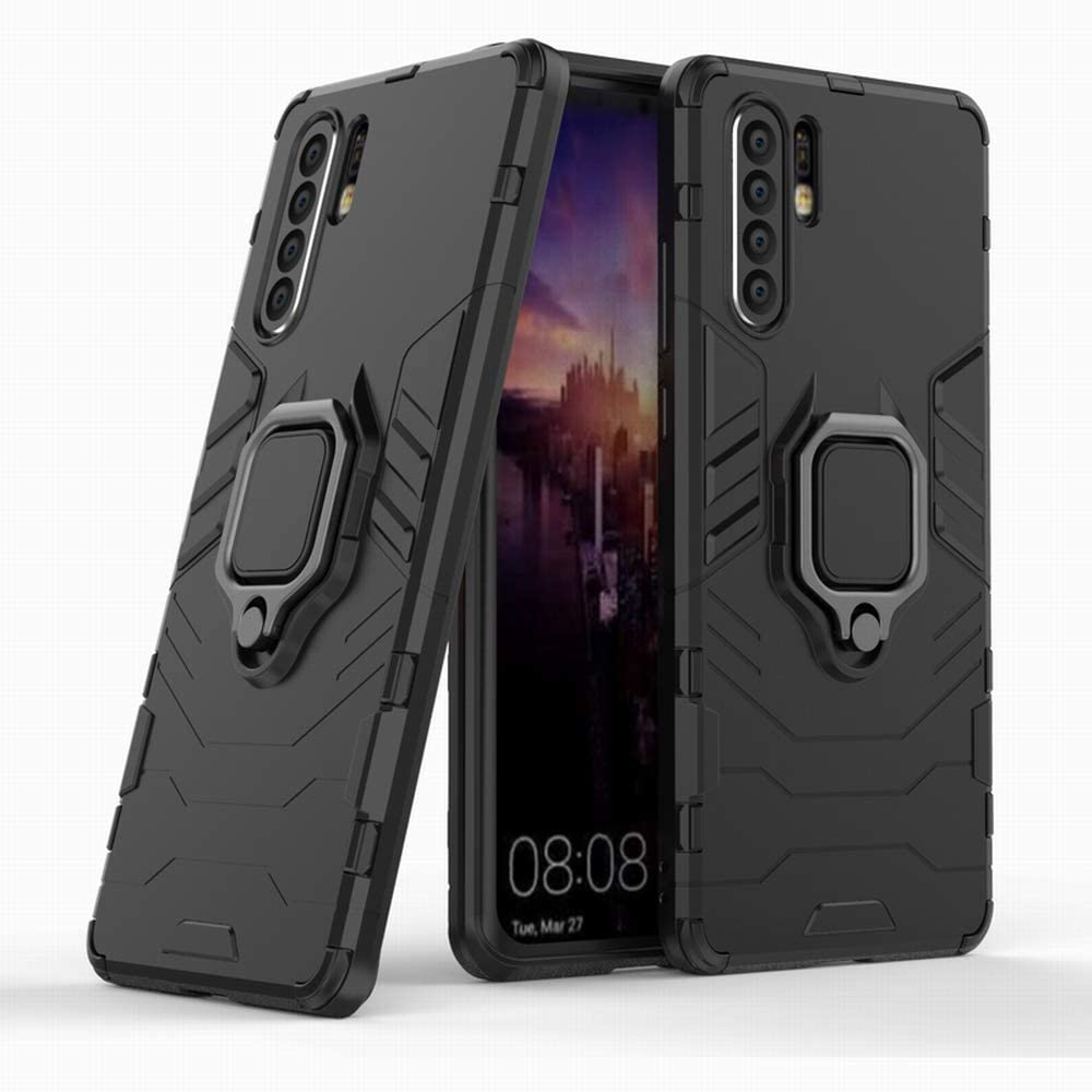 Huawei P30 Pro Case by WorldMom with Kickstand and Hybrid Drop Protection Holder Stand Case Cover for Huawei P30 Pro, Black
