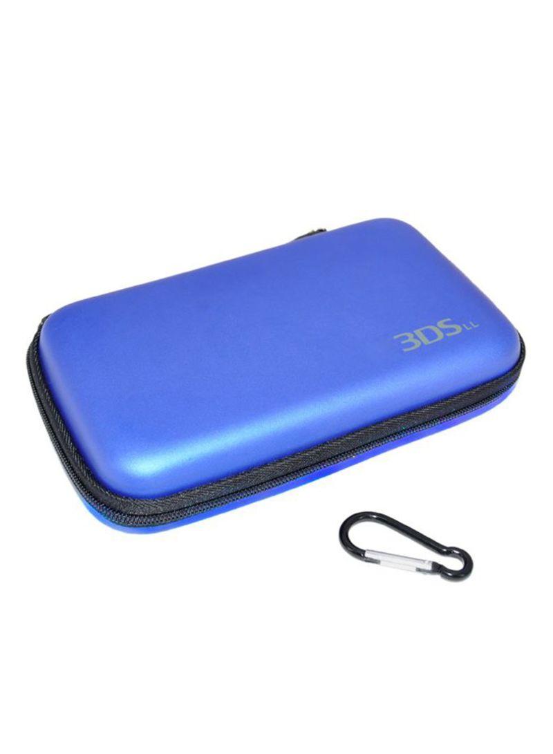حقيبة بغطاء صلب لحمل وحمايت لعبة الفيديو الننتندو 3DS XL / 3DS LL بلون أزرق